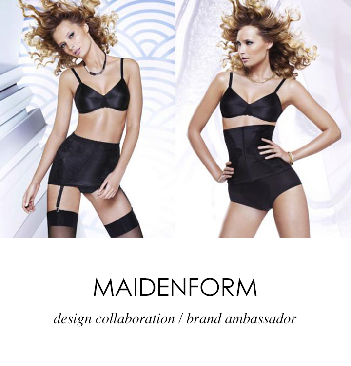 Maidenform Janie Bryant design collaboration & brand ambassador